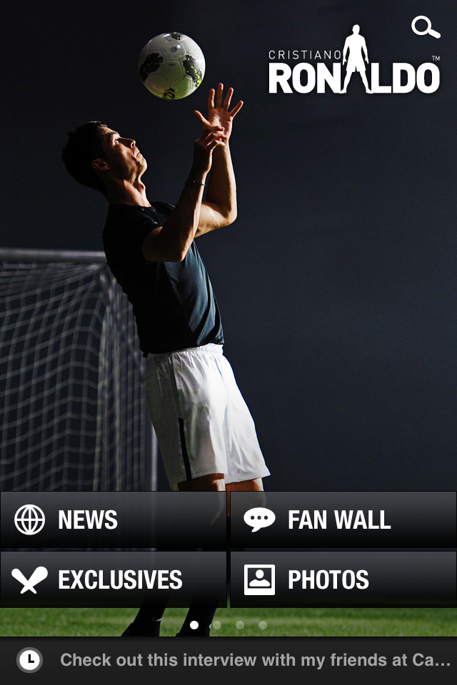 Cristiano Ronaldo Launched His Official Mobile Application