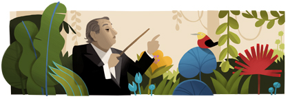 Google Celebrates The 125th Birthday of Heitor Villa Lobos