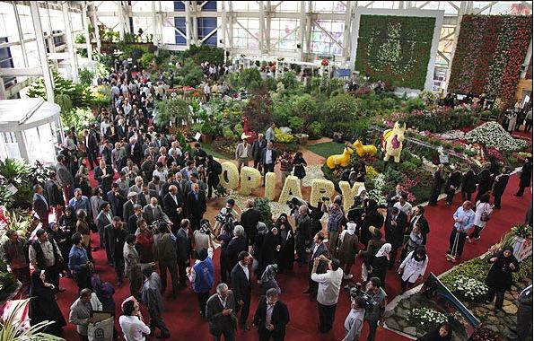 10th International Flower Show Opens in Tehran