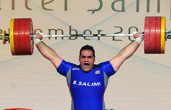 Iran's Behdad Salimi Won Gold Medal in Men's Weightlifting +105kg