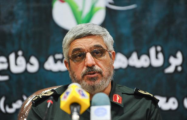 The commander of the IRGC's Prophet Muhammad unit and Martyr Fahmideh base, Mohsen Kazemini