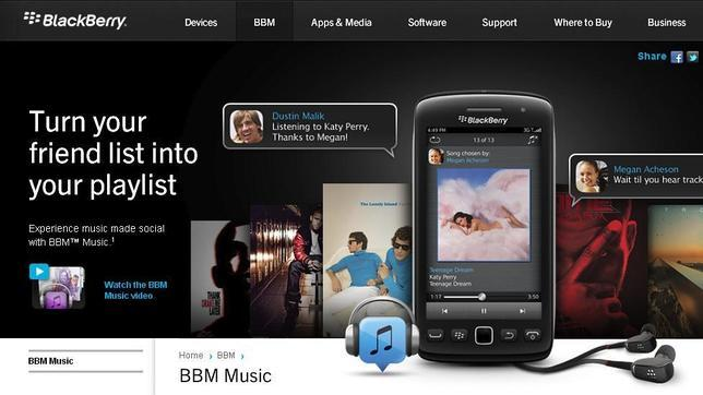 Blackberry will close its music streaming service, BBM Music
