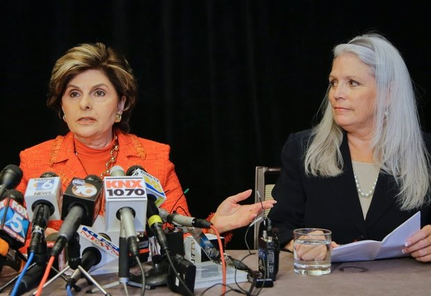 Irene McCormick Jackson and attorney Gloria Allred