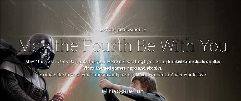 Google Play Star Wars Day