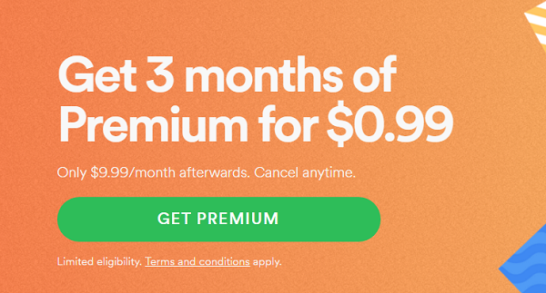 Spotify Offering 3 Months For $0.99 In Time For The Summer