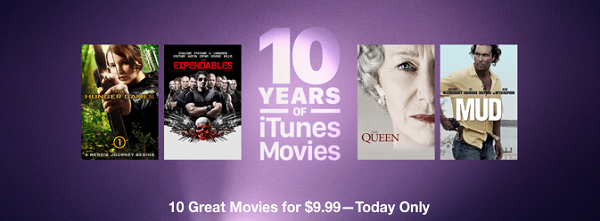 Apple Is Running An Anniversary Special For 10 Years of iTunes Movies