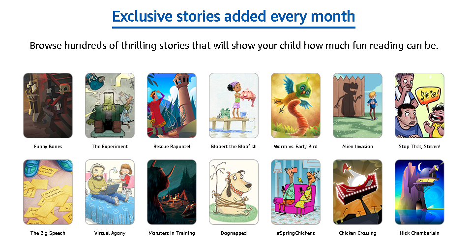 Amazon Launches Reading Service Geared Towards Kids
