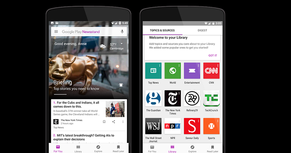 Google Play's Newsstand Gets A Facelift