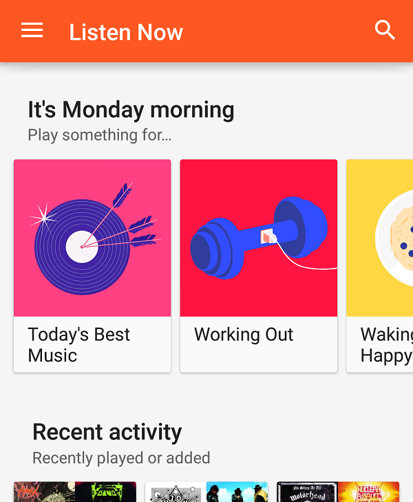 Google Now Approach Improves Google Play