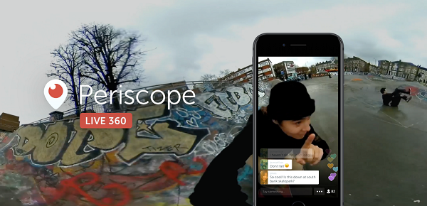 Twitter and Periscope Get Live 360 Video