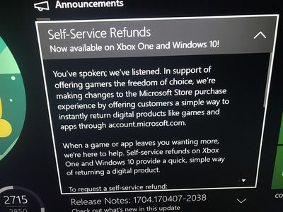 Microsoft Testing Game Return System for Xbox One